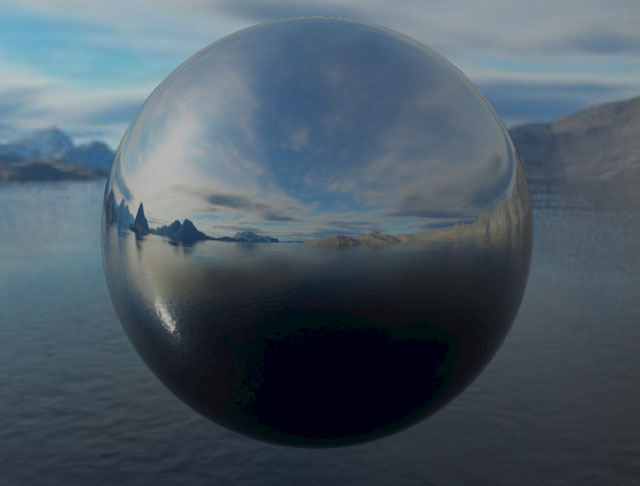 PBR Sphere with no roughness